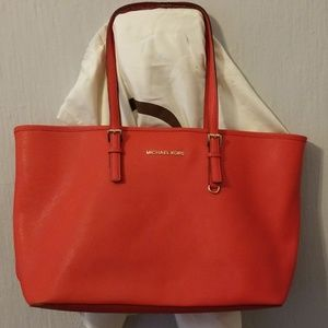MK leather tote bag